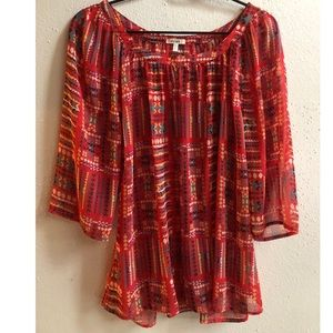 Cute Dylan Aztec Blouse Size Medium